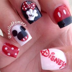 "✨Mary✨ on Instagram: ""Disney. Acrylic color: @glamandglitsnails BONFIRE and…"