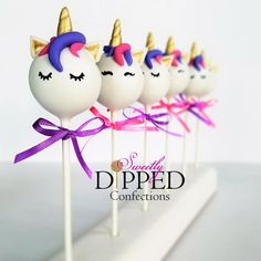 Pretty Unicorn Cake Pops!