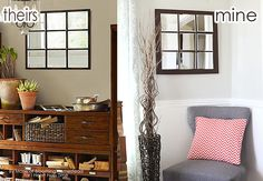 Pottery Barn Knock-Off Mirror! An easy and affordable way to make this darling mirror for $47 instead of $269!
