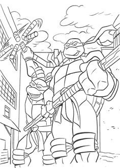 Teenage Mutant Ninja Turtles Coloring Pages 69