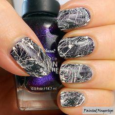 Painted Fingertips   Sugarspun spiderwebs