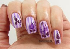 Striped Floral Nails mit Go Ginza (ESSIE, Spring Collection 2013)