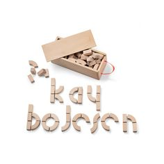 Alphabet blocks Kay Bojesen