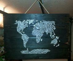 String art  - mapa