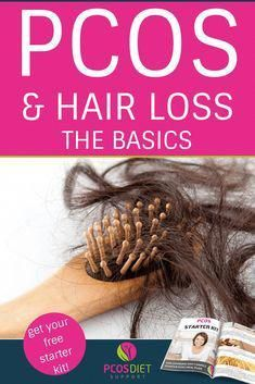 We talk a lot about unwanted or excessive hair growth but what about hair loss? This common symptom can be tough to man. Pcos Hair Loss, Baby Hair Loss, Biotin For Hair Loss, Oil For Hair Loss, Hair Loss Cure, Hair Loss Shampoo, Hair Loss Women, Hair Loss Remedies, Prevent Hair Loss