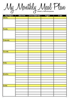 Monthly Meal Planning - great ideas and blank planning sheet from Happy Money Saver Blog