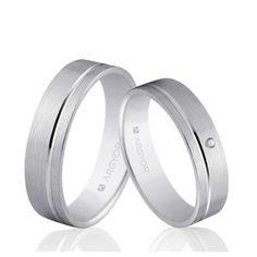 Alianzas de boda Oro 1ª Ley 18Kts. blanco 5mm Argyor ref. 5B50316 18K