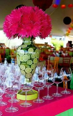 Center piece with limes