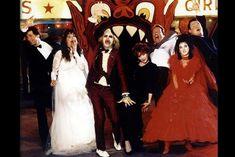 Beetlejuice (1988)  Alec Baldwin, Geena Davis, Michael Keaton, Catherine O'Hara, Jeffrey Jones, Winona Ryder, and Glenn Shadix.