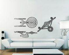 USS Enterprise NCC 1701 Serie1 Star Trek Vinyl Wall Art Decal wd391. $42.99, via Etsy.