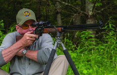 Open sights, pitching .444 Marlin from an 150th Anniversary Marlin Model 336, can you hit a country mile? Certainly, but doing so tells us something about the setup.