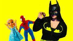 Pregnant batwomen plays   Spiderbaby prank on batman Super Heros In Real...