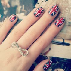 Union Jack manicure for Flag Day! Cheers!