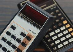 I can remember how excited we were when calculators came out!  (aw)   Pair of Vintage Calculators