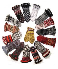 Lovely knitted mittens, Nordic Knitting Cafe, Nordic Heritage Museum, Seattle, WA