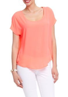 2B Open Back High Low Top