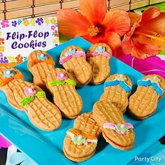 Perfect sandals for a under the sea Hawaiian party #Luau #Party #partycheap #luauparty