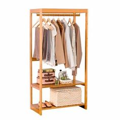 closet pequeno e barato com poucas roupas Small Furniture, Handmade Furniture, Wood Furniture, Furniture Design, Apartment Life Hacks, Wooden Clothes Rack, Open Wardrobe, Interior Design Living Room, Interior Livingroom