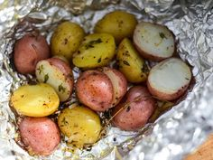 Grilled Foil-Wrapped Potatoes With Shallots, Lemon, and Thyme