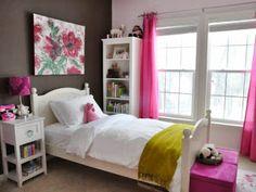 Grey Pink Teenage Girl Bedroom Ideas Wall Color