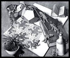 Art by Esher Op Art, Classic Art, Escher Art, Graphic Artist, Drawings, Fantasy Art, Fantasy Illustration, Art, Artwork Painting