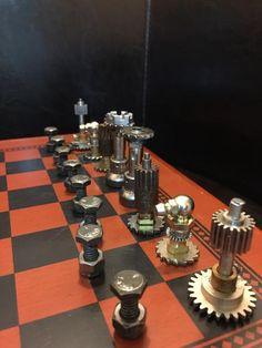Steampunk Chess Set (Play) - The Brass Caliper - 5