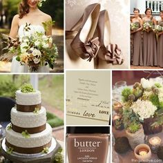 Pantone Cognac Wedding Inspiration #pantonecognac #wedding #inspiration #board #fall