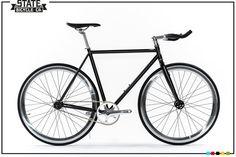 Build Custom Matte Black 4 Bike | Fixie Bike | State Bicycle Co.