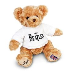 Keel-Toys-20cm-The-Beatles-Teddy-Bear-With-White-T-Shirt-Soft-Plush-Cuddly-Toy