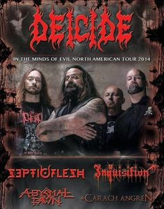 Deicide In the Minds of Evil North American Tour 2014