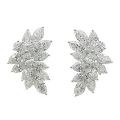 1stdibs - Dazzling Platinum and Diamond Earrings explore items from 1,700  global dealers at 1stdibs.com