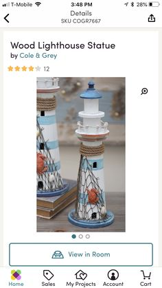 Summer Mantle Decor, Lighthouse, Statue, Wood, Projects, Bell Rock Lighthouse, Log Projects, Light House, Blue Prints