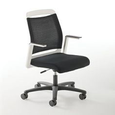 Nabu Chair with white back frame and arms