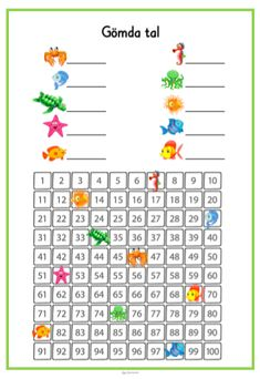Gömda tal Body Parts For Kids, 120 Chart, Matte Material, School Worksheets, Math Workshop, Math Numbers, Reggio Emilia, Teaching Materials, School Hacks