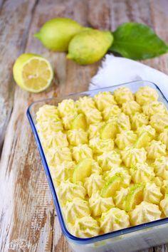 Tiramisù al limoncello Limoncello, Biscuits, Cake & Co, Italian Cookies, Lemon Recipes, Mini Desserts, Italian Recipes, Macaroni And Cheese, Food And Drink