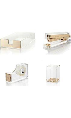 Bundle 4 Items Kate Spade New York Acrylic Desk Set Best Price