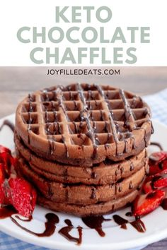 Having a rich, decadent chocolate chaffle for breakfast, dessert, or just a snack fills your chocolate craving in minutes. These chaffles are incredible and give you that warm comfort food feeling on a good or bad day. They freeze well and can be made ahead for a quick morning or brunch. These chocolate chaffles are perfection, and even the kids are happy to munch on them. These homemade chaffles happen to be gluten-free, keto, low carb, trim healthy mama friendly, and grain-free too.