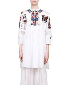 Valentino Mariposa embroidered cotton dress   Lindelepalais.com 67312