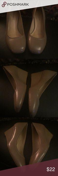 Antonio Melani beige wedges Antonio Melani beige wedges worn once ANTONIO MELANI Shoes Wedges