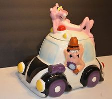 Pink Panther & Inspector Car Cookie Jar by Treasure Craft Ltd Edition #300  Nice