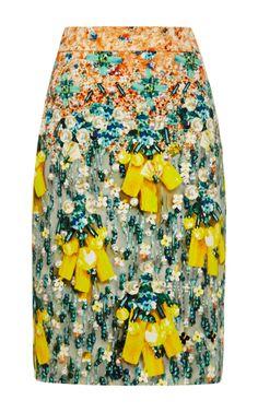 MARY KATRANTZOU 'Diamond' Skirt in 'Silverfloss' Print   US$1,190   Moda Operandi