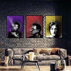 Rock e arte pra decorar sua parede! ❤️💥 #design #arquitetura #interiores #decoracao #decor #home #arte #art #instahome #instaarte #instaart #instadecor #campinas #cambui #urbanarts #urbanartscampinas