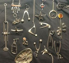Modernist Silver Jewelry with various Artists of that era.
