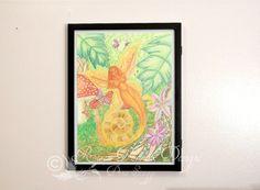 Fairy Magic  11x15 inch Original Watercolor by RisenPhoenixDesigns, $25.00