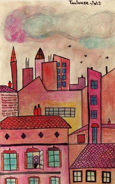 """viola': Toulouse, """"la ville en rose"""" from my window"""