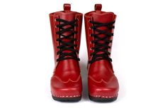 Edith Clog Boot Red