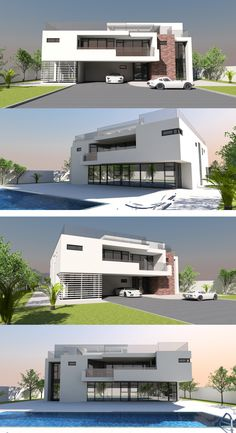 460m2 4 bed/bath modernist concept villa in concrete from Bespoke-homes.com Home Design Plans, Plan Design, Contemporary House Plans, Bed & Bath, Bespoke, Concrete, Modern Design, Villa, How To Plan