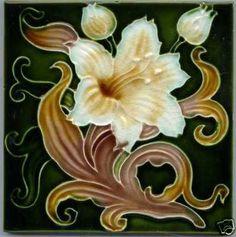 Art Nouveau Majolica Tile
