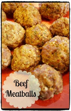 An easy beef meatball recipe that works great with spaghetti, meatball subs, or as an appetizer! So yummy and a favorite of my family, especially my kids!