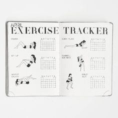 EXERCISE TRACKER • I have never done any kind of exercise in my entire whole life but I've been doing a few simple exercises for the last two months (on and off) and actually enjoy it.  My goal is to exercise at least three times a week. I was kind of reluctant to post this photo because I've been slacking off a bit this month.  Questions: Do you have any tips on how to stay motivated? Also how do you track your fitness/workout in your Bullet Journal?
